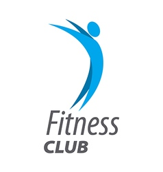 Abstract logo for fitness club vector image vector image