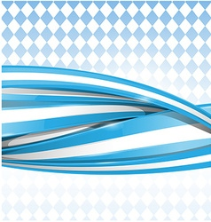 bavarian ribbon flag on background vector image vector image