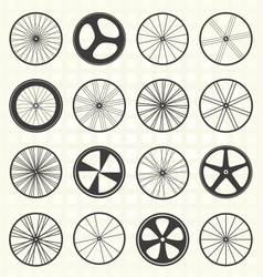 Bike wheel collection vector