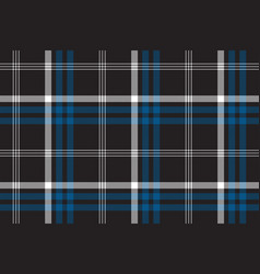 Black check seamless fabric texture vector