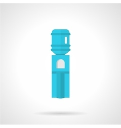 Blue water cooler flat icon vector