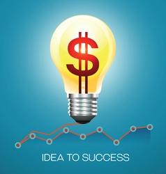 business idea success vector image