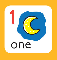 card for learning to count from 1 to 10 education vector image