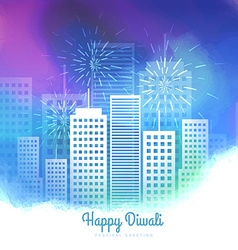 Diwali season fireworks colorful background vector
