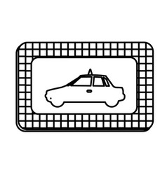 Figure border taxi side car icon vector