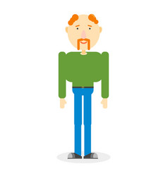 flat color man on white vector image vector image