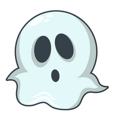 ghost icon cartoon style vector image vector image