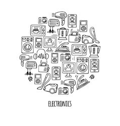 Home electronics sketch circle vector