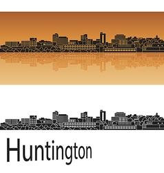 Huntington skyline in orange vector