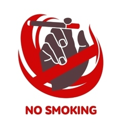 Icon on smoking in flat style vector