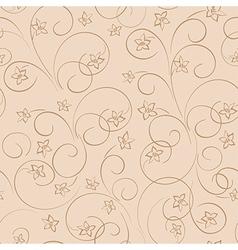 Light beige floral background - seamless pattern vector