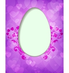 purple design with Easter egg vector image vector image
