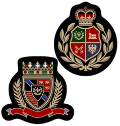 royal emblem badge vector image vector image