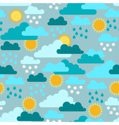 Seamless pattern with seasons and weather vector image