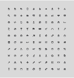 Set of 100 interface icons vector image