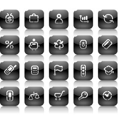 Stencil black buttons for business vector image