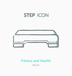 Step icon on white background vector