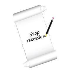 Stop recession color vector