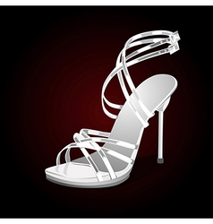 Weddings white shoes vector