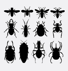 Insect bug small animal silhouette 2 vector