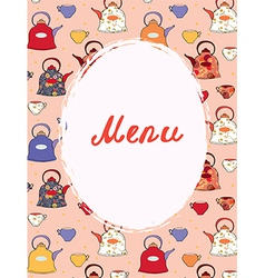 Tea and coffee menu template vector