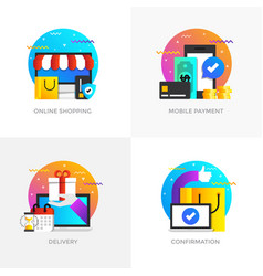 Flat designed concepts - colored 5 vector