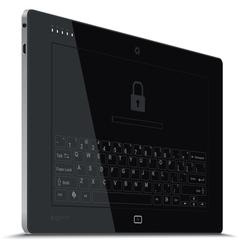 Tablet Left Side View Vertical vector image