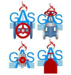 Badges gas industry vector image