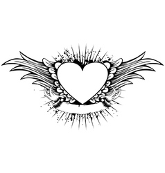 heart wings vector image