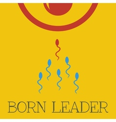 Born leader flat vector