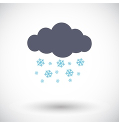Snowfall single icon vector