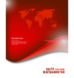 red business background vector image