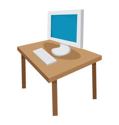 desk vector image