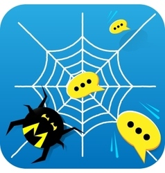 Spam messages spider vector