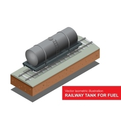 Isometric of railway tank for vector