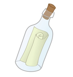 messge in bottle vector image