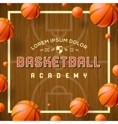 Basketball academy flyer or poster vector