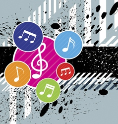 Music festival background design vector