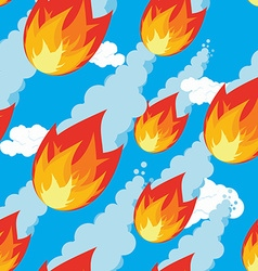 Meteor shower seamless pattern falling comet vector