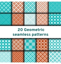 Set of 20 seamless patterns vector