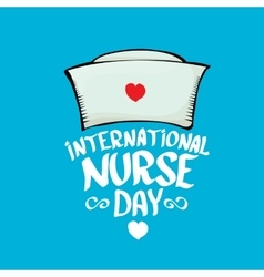 International nurse day greeting card vector