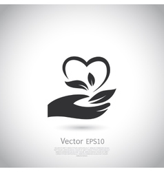 Natural product icon design template vector image
