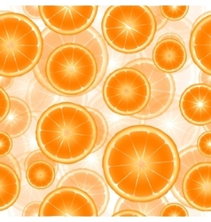 Citrus slices seamless pattern background vector