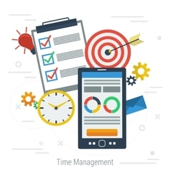 Concept time management vector