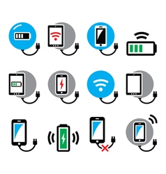 Wireless charging pad for smartphone or tablet ic vector image