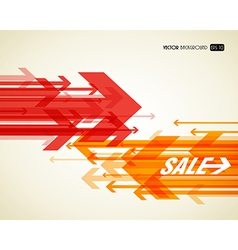 Abstract background with colorful arrows vector image