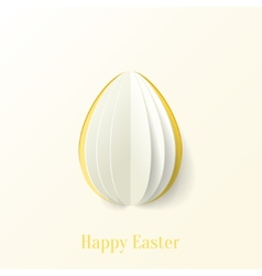 Abstract paper Easter egg background vector image
