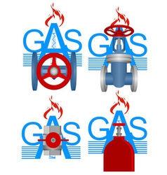 Badges gas industry vector