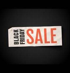 banner for black friday vector image
