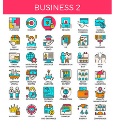 Business essential line icons vector